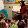 Ellen reading to children at the University of the South